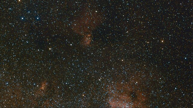 Zoom of the Milky Way's central region