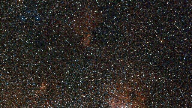 Zoom sur les régions centrales de la Voie Lactée