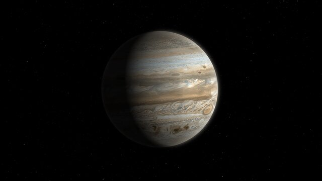 Animation de Jupiter montrant les sites d'impact de la comète Shoemaker-Levy 9