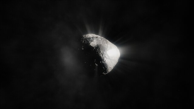 Artist's animation of a comet