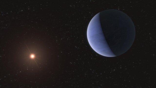 Konstnärlig gestaltning av exoplaneten L98-59d