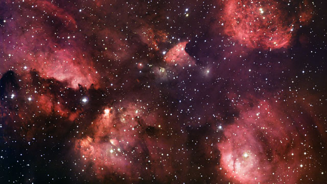 The Cat's Paw Nebula in visible and infrared Light (Europe to the Stars Clip)