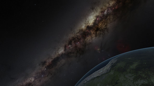 The Milky Way and the Earth (Europe to the Stars Clip)