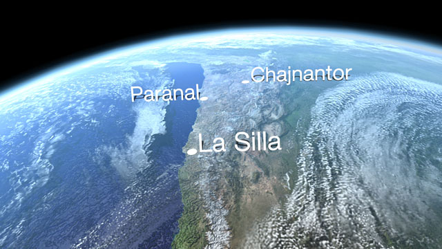 ESO Sites in Chile (Europe to the Stars Clip)