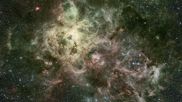 Old and new images of the Tarantula Nebula (Europe to the Stars clip)