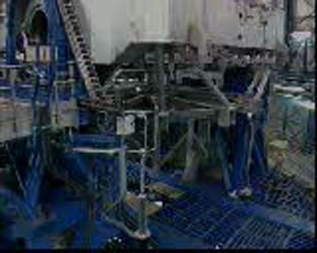VLT Unit Telescope 1 during integration