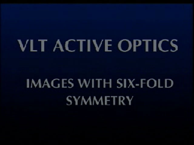 Wonders of active optics: images with six-fold symmetry