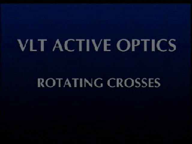 Wonders of active optics: rotating crosses