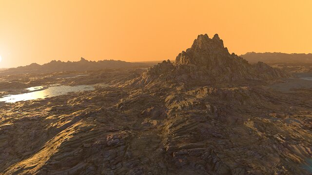 Artist's animated view of a rocky exoplanet