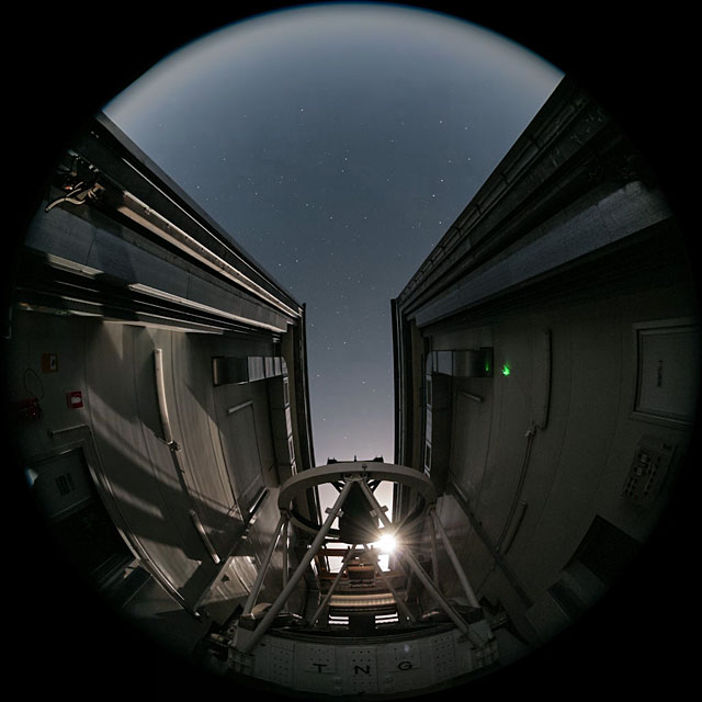 Fulldome time-lapse from the Telescopio Nazionale Galileo