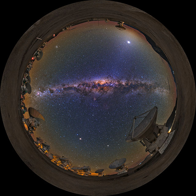 """From Earth to the Universe"" — Milky Way and ALMA"