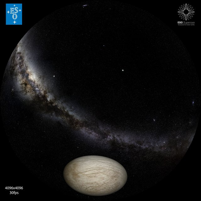 """From Earth to the Universe"" — Europa and Io"
