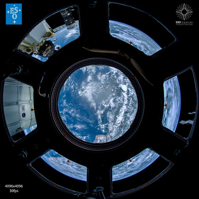 """From Earth to the Universe"" — ISS Cupola"