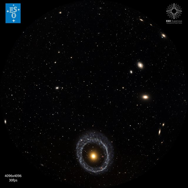 """From Earth to the Universe"" — Ring Galaxy"
