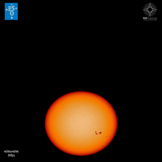"""From Earth to the Universe"" — Sunspots"