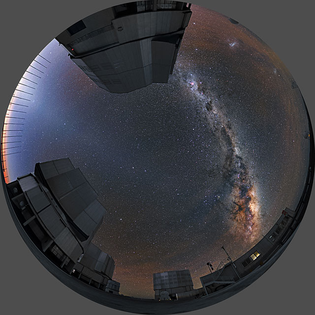 """From Earth to the Universe"" — Milky Way and VLT"