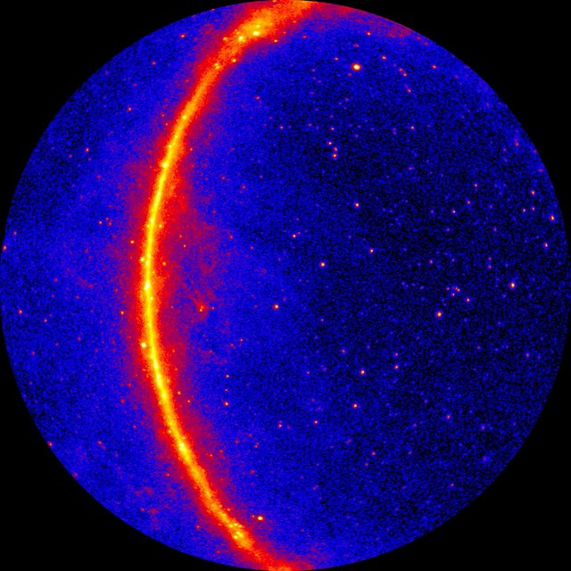 Gamma ray map of the Milky Way