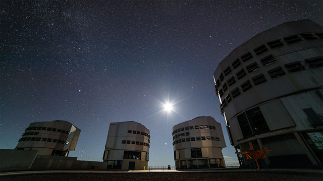 The bright sky at Paranal