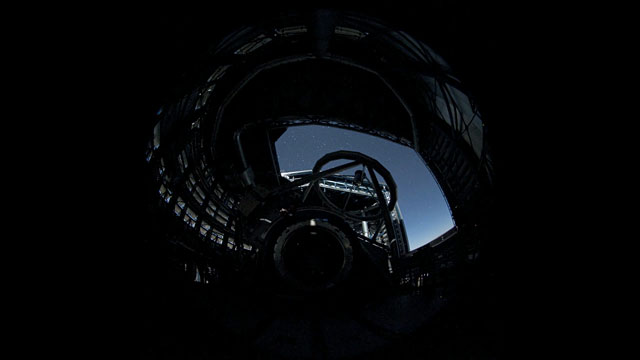A Fish-eye View Inside UT1 (time-lapse)