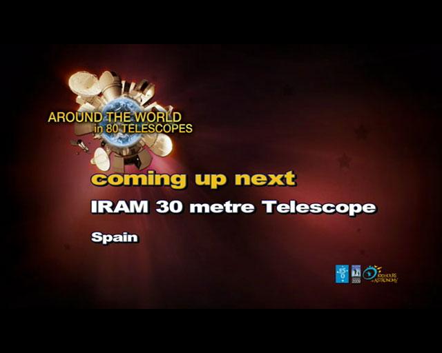 IRAM Telescope (AW80T webcast)