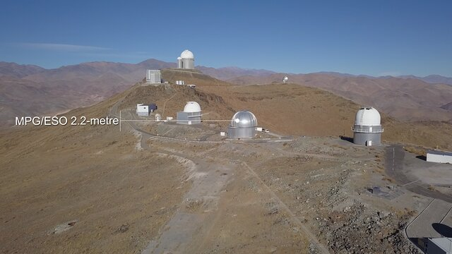Fly-over of La Silla Observatory
