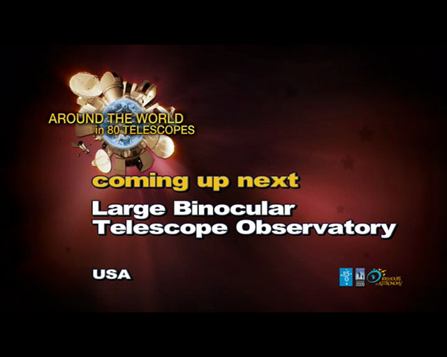 Large Binocular Telescope (AW80T webcast)