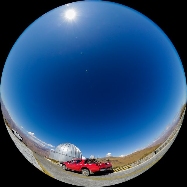 MPG/ESO 2.2-metre telescope at la Silla in action