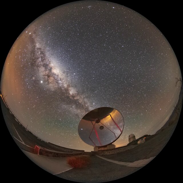 The Milky Way above La Silla Observatory