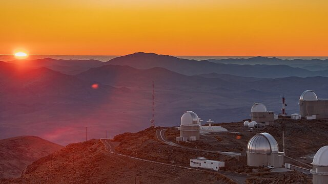 Sunset at La Silla
