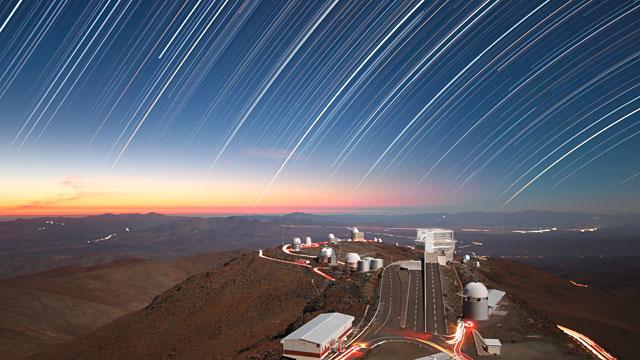 Time-lapse over La Silla