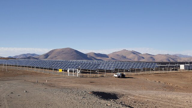 Solar panels at La Silla
