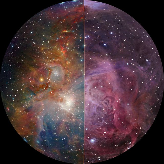 Orion Nebula in infrared (fulldome)