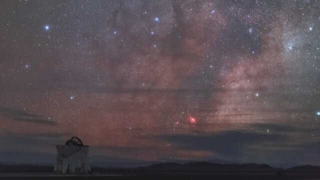 Stars above the VLT