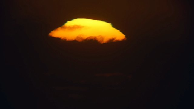 Green flash registered from Cerro Paranal