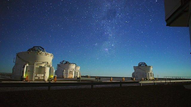 Auxiliary Telescopes on Cerro Paranal