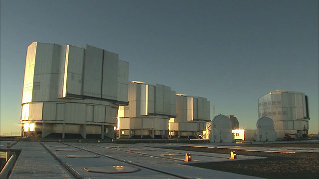 Paranal VLT Unit Telescopes Time-lapse