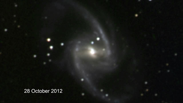TAROT discovers a bright supernova in NGC 1365 (annotated)