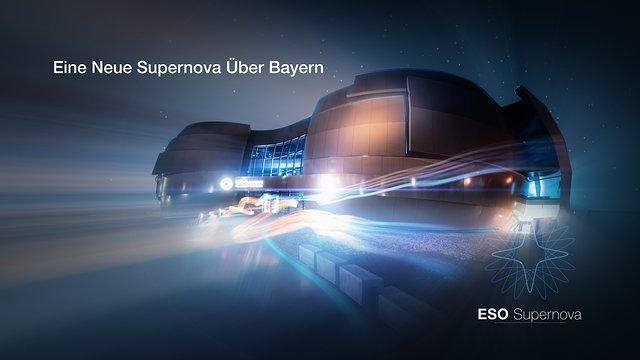 ESO Supernova Planetarium & Visitor Centre trailer (in German)