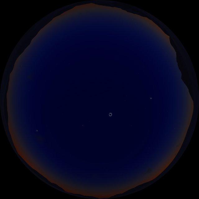 Solar eclipse (fulldome artist's impression)