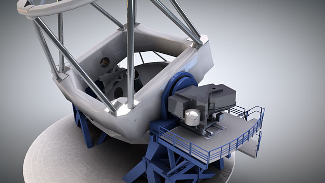 Cutaway animation of the SPHERE instrument on the VLT