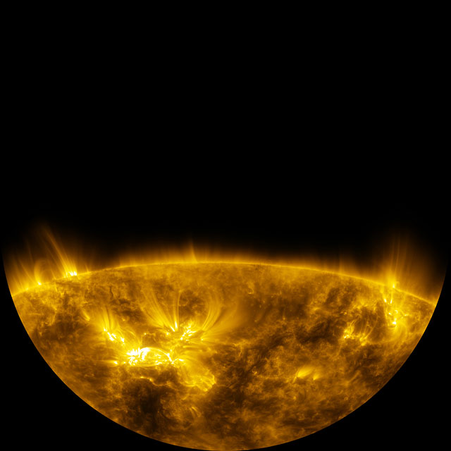 Fulldome clip of the Sun