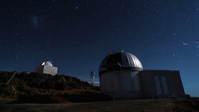 The TRAPPIST telescope in its dome at La Silla