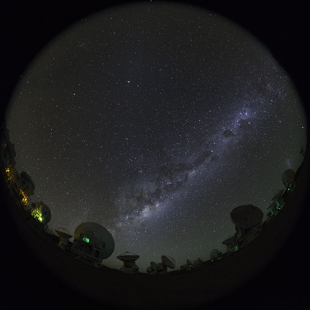 Fish-Eye ALMA UHD time-lapse