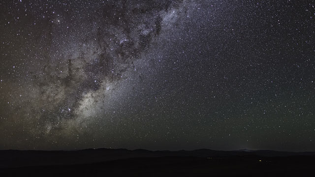 Night sky revealed over Paranal