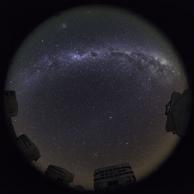 Paranal Fish-Eye Time-lapse