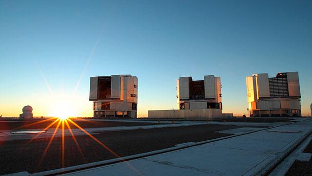 Sunset View of the VLT Platform