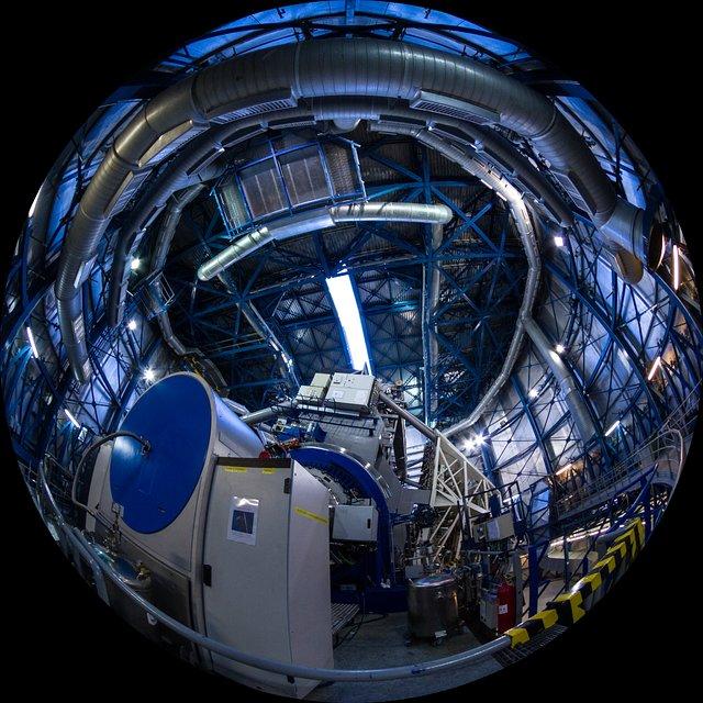 VLT Telescope dome shutters opening