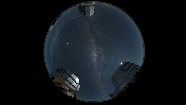 A Fish-eye View on Paranal