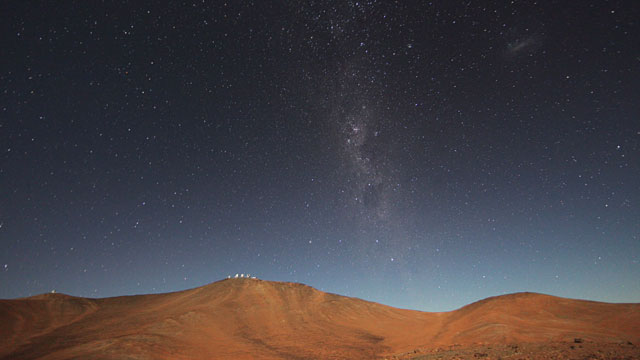 Night falling on Paranal