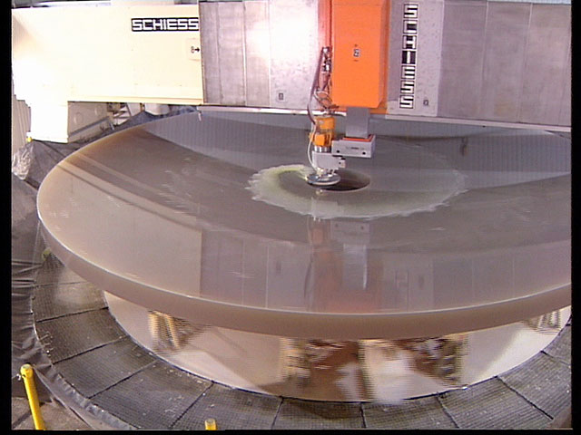 Drilling of the M1 Mirror